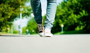 Promenera för viktnedgång